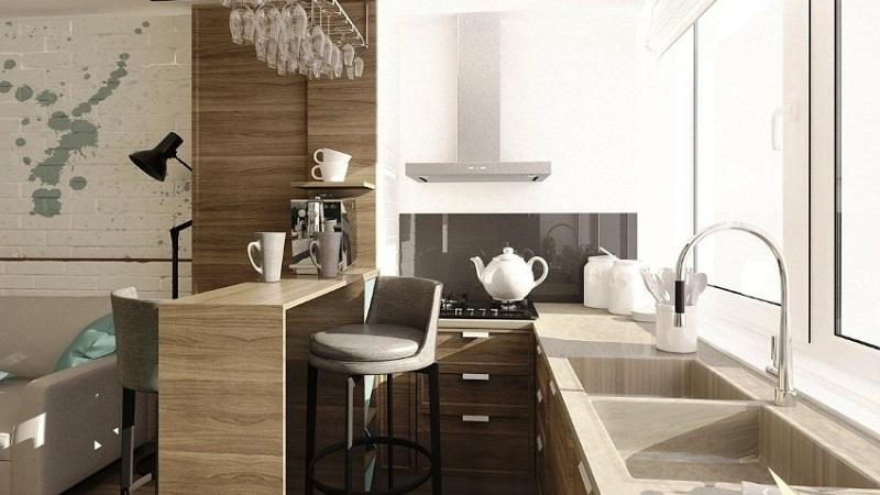 Обустраиваем пространство рационально: кухня на балконе
