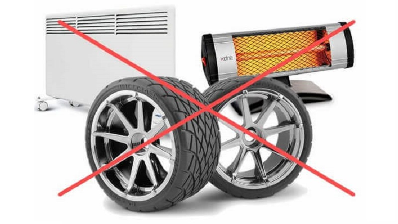 Хранение колес на балконе: правила, условия, рекомендации