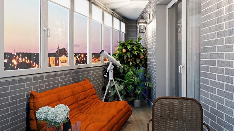Отделка балкона под кирпич: какие материалы можно использовать в оформлении интерьера