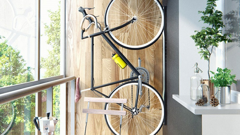 Как хранить велосипед на балконе - способы крепления